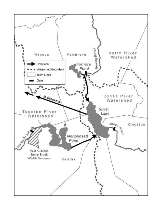 Brockton Water Map