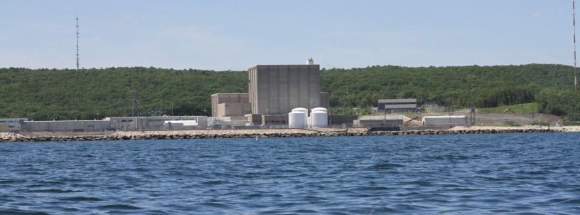 Pilgrim Nuclear Power Station on Cape Cod Bay
